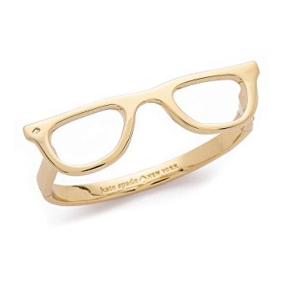 f626bed64280d Kate Spade Lookout Glasses Bangle Bracelet NWT